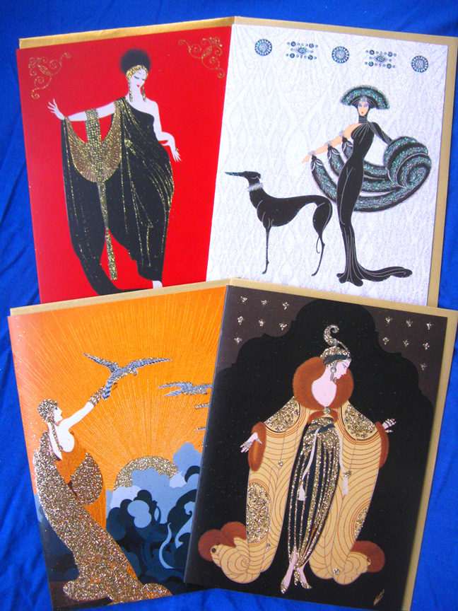Erte Symphony in Black Notecards