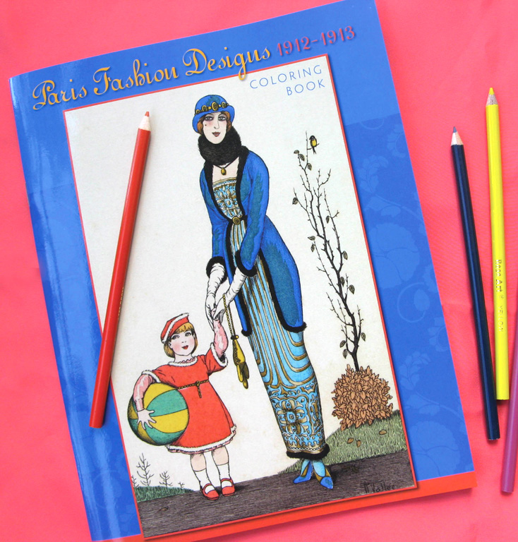 Paris Fashion Design Coloring Book