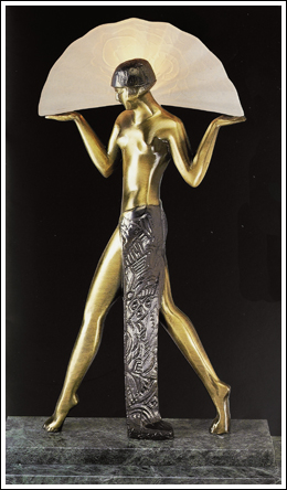 Egyptian Deco Lady Lamp