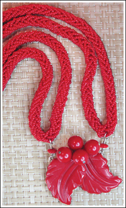 Red Leaf Necklace